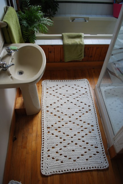 bathroom rug in situ